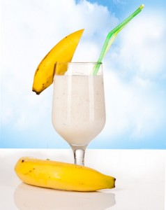 Banana Almond Protein Smoothie with Hemp Seeds