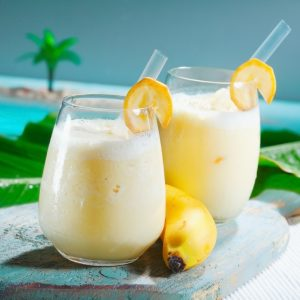 Banana Almond Protein Smoothie with Sunflower Seeds