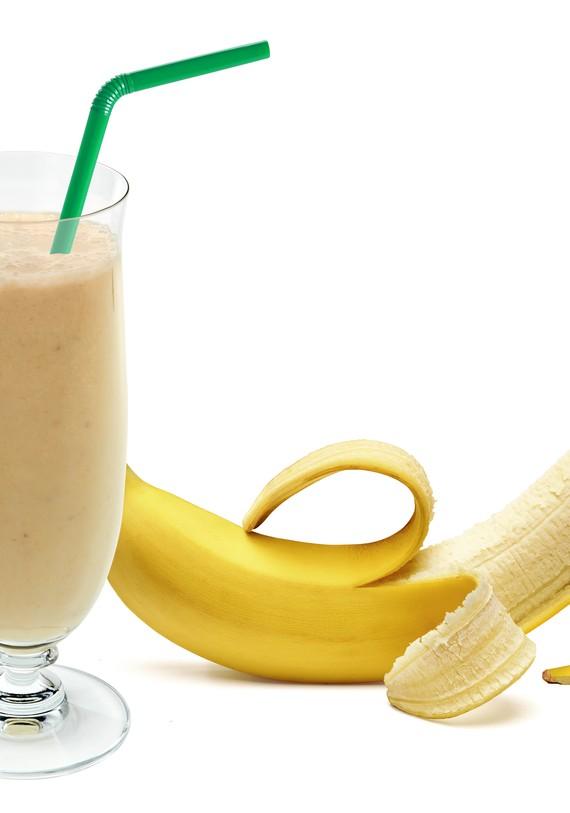 Creamy Banana and Pistachio Protein Shake