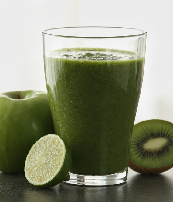 Kiwi Apple Banana and Lime Shake