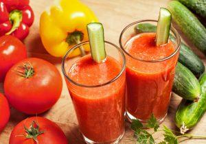 Tomato Capsicum Cucumber and Smoothie