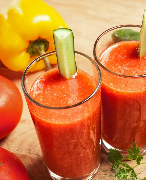 Tomato Capsicum Cucumber and Smoothie