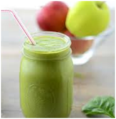 Arugula Apple Banana and Almond Smoothie