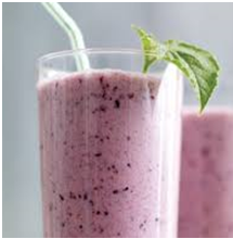 Orange Blueberry Protein Smoothie
