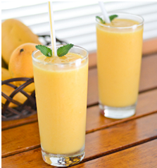 Spiced Mango Yogurt and Oat Smoothie