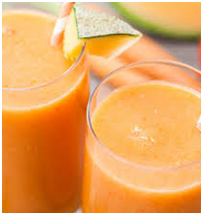 Melon Carrot and Almond Smoothie with Chia