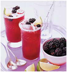 Blackberry Fennel and Lime Juice with Honey