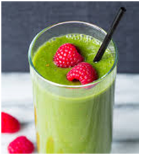 Raspberry Walnut and Spinach Smoothie