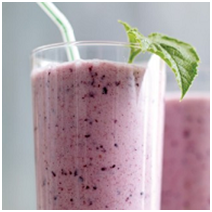 Coconut Blueberry and Honey Smoothie