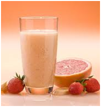 Grapefruit Strawberry and Yogurt Shake