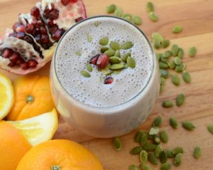 Orange and Pomegranate Smoothie
