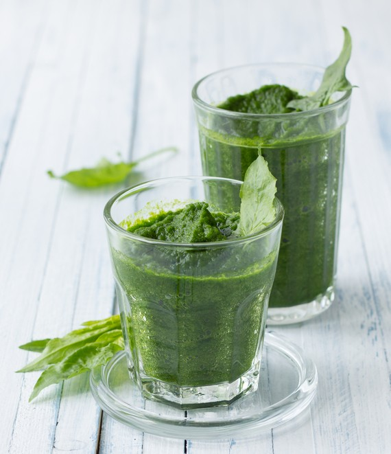 Apple Banana Kale and Coconut Smoothie