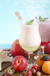 Apple Berry and Apricot Protein Smoothie