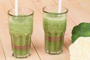 Broccoli Cauliflower Pear and Coconut Smoothie