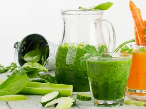 Celery Cucumber Lime and Spinach Smoothie