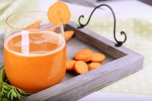 Homemade Carrot Cucumber and Orange Juice