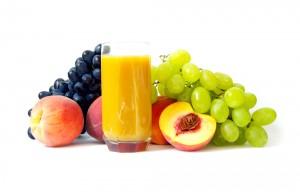 Homemade Grape Peach and Cucumber Juice