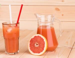 Homemade Grapefruit Apple and Coconut Juice