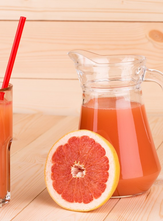 Homemade Grapefruit Apple and Coconut Juice