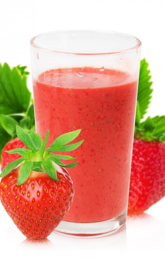 Homemade Strawberry Orange and Cherry Juice