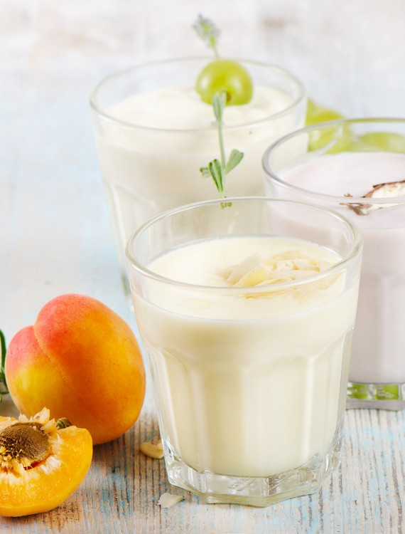 Nectarine Grape and Yogurt Smoothie
