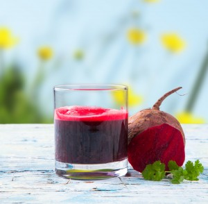 Parsley Beet and Grape Juice