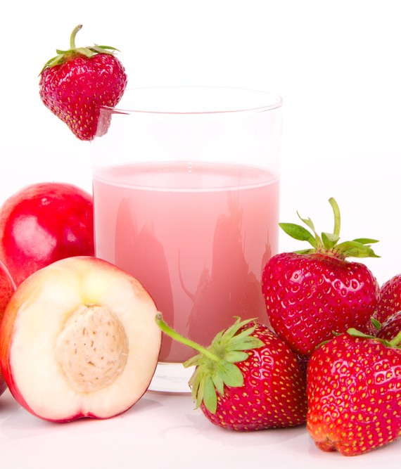 Plum Strawberry and Coconut Juice