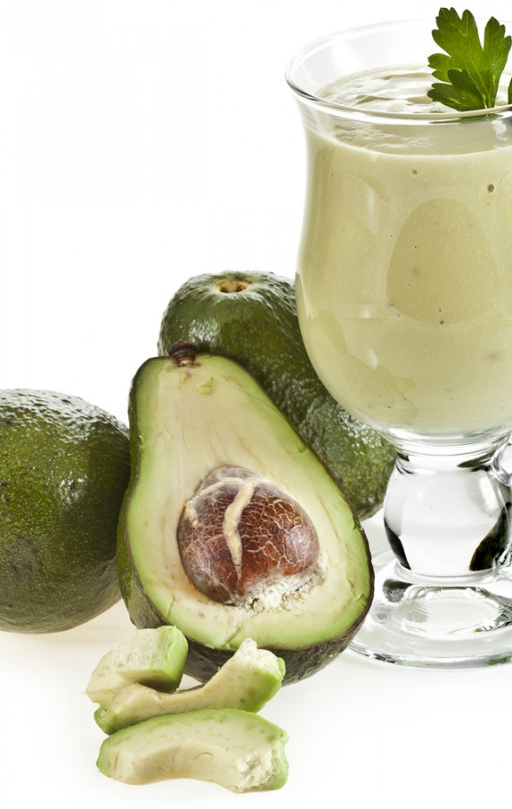 Easy Avocado Lemon and Soy Yogurt Smoothie