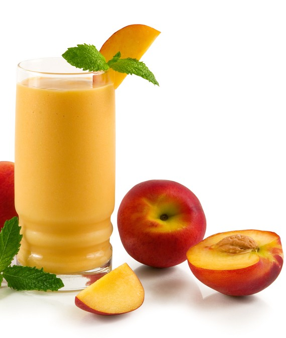 Easy Nectarine Soy and Oat Smoothie