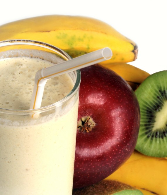 Low Fat Banana Apple and Kiwi Smoothie