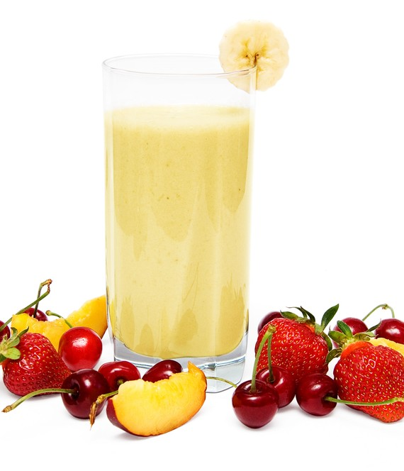 Nectarine Cherry Banana and Almond Shake