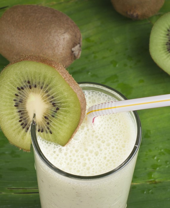 Soy Kiwi Pear and Fennel Smoothie