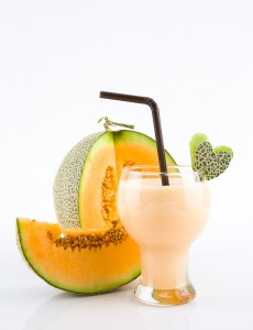 Easy Rockmelon Soya and Flax Smoothie Recipe