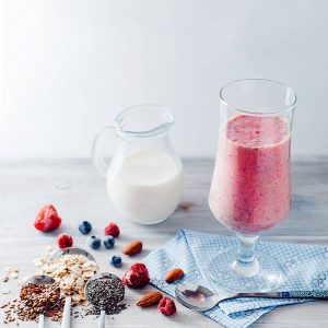 Blueberry Tomato and Almond Shake with Flaxseed Recipe