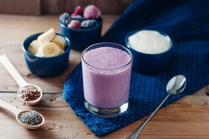 Creamy Raspberry Banana Flax and Yogurt Smoothie Recipe