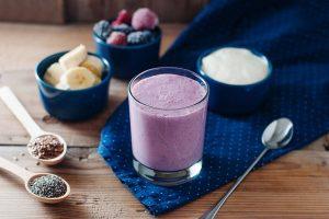 Creamy Raspberry Banana Flax and Yogurt Smoothie Recipe