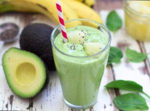 Easy Avocado Banana and Pineapple Smoothie Recipe